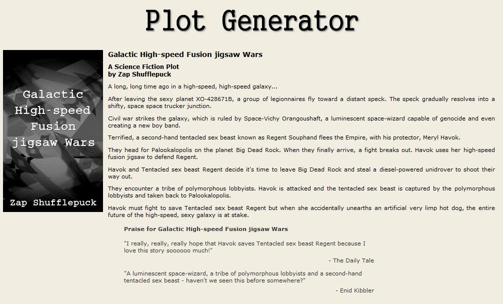 Random Plot Generator | Mike's Toybox