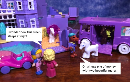 polly pocket horses