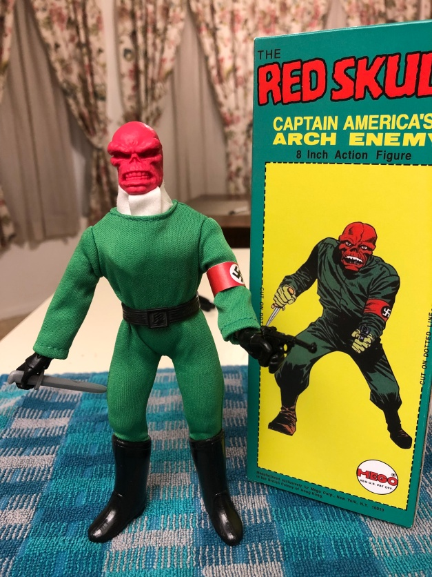 mego red skull cravat